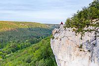France, Cote d'Or, Val Suzon  Regional Natural Reserve, Messigny et Vantoux, Foret Domaniale de Val Suzon (aerial view) // France, Côte d'Or (21), réserve naturelle régionale du Val-Suzon, Messigny-et-Vantoux, forêt domaniale de Val-Suzon (vue aérienne)