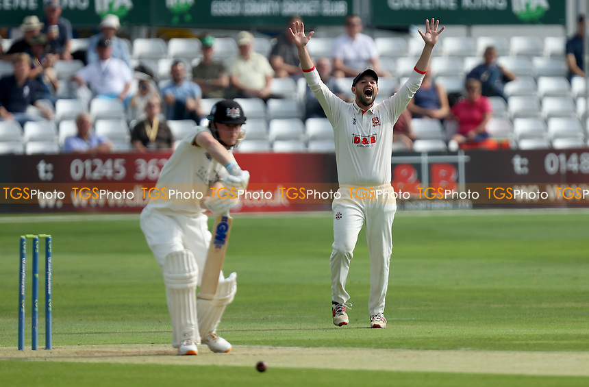 Nick Browne of Essex appeals for the wicket of Miles Hammond during Essex CCC vs Gloucestershire CCC, LV Insurance County Championship Division 2 Cricket at The Cloudfm County Ground on 5th September 2021