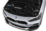 Car stock 2018 BMW X2 Advantage 5 Door SUV engine high angle detail view