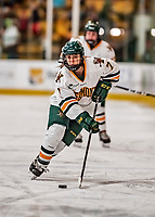 9 February 2018: University of Vermont Catamount Forward Kristina Shanahan, a Freshman from Ste-Anne-de-Bellevue, Québec, in second period action against the University of Connecticut Huskies at Gutterson Fieldhouse in Burlington, Vermont. The Lady Cats defeated the Huskies 1-0 the first game of their weekend Hockey East series. Mandatory Credit: Ed Wolfstein Photo *** RAW (NEF) Image File Available ***