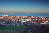 Edinburgh, Leith, the Firth of Forth and Fife from Arthur's Seat, Edinburgh, Lothian