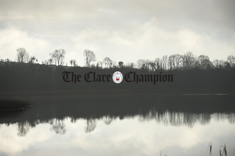 After weeks of rain, the weather gets more promising over Lough Bridget in East  Clare. Photograph by John Kelly.
