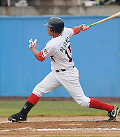 July 17, 2009: Outfielder Francisco Plasencia (15) of the Potomac Nationals, Carolina League affiliate of the Washington Nationals, in a game against the Kinston Indians at G. Richard Pfitzner Stadium in Woodbridge, Va. Photo by: Tom Priddy/Four Seam Images
