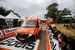 The publicity caravan before La Fleche Wallonne 2020, running 202km from Herve to Mur de Huy, Belgium. 30th September 2020.<br /> Picture: ASO/Aurélien Vialatte | Cyclefile<br /> All photos usage must carry mandatory copyright credit (© Cyclefile | ASO/Aurélien Vialatte)