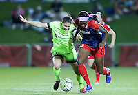 Boyds, MD - Wednesday Sept. 07, 2016: Kendall Fletcher, Cheyna Williams during a regular season National Women's Soccer League (NWSL) match between the Washington Spirit and the Seattle Reign FC at Maureen Hendricks Field, Maryland SoccerPlex.
