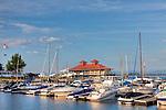 The Burlington Community Boathouse is the centerpiece of the waterfront on Lake Champlain in Burlington, VT, USA