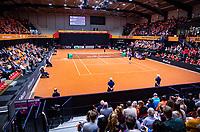Den Bosch, The Netherlands, Februari 10, 2019,  Maaspoort , FedCup  Netherlands - Canada, first match Sunday : Overall vieuw Maaspoort<br /> <br /> Photo: Tennisimages/Henk Koster