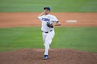 Florida Gators starting pitcher Alex Faedo (21) in action against the Wake Forest Demon Deacons in Game One of the Gainesville Super Regional of the 2017 College World Series at Alfred McKethan Stadium at Perry Field on June 10, 2017 in Gainesville, Florida.  The Gators defeated the Demon Deacons 2-1 in 11 innings.  (Brian Westerholt/Four Seam Images)