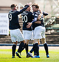 Dundee's Craig Wighton (33) celebrates after he scores their first goal.