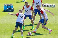 Spain's Iago Aspas, Koke Resurrecccion and Saul Niguez during training session. June 5,2017.(ALTERPHOTOS/Acero)