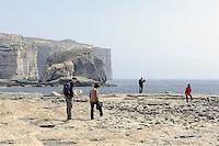 Fungus Rock in der Dwejra Bay auf Gozo, Malta, Europa