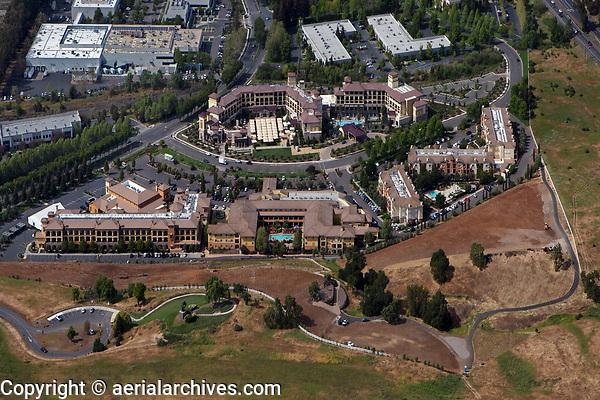 aerial photograph of The Meritage Resort and Spa, City of Napa, Napa County, California