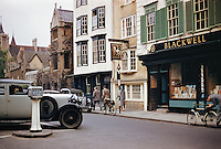 Blackwell Bookstore in Oxford England. Approx date of this photograph is 1959.