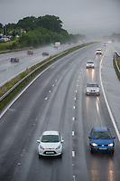Wednesday  29 June 2016<br /> Pictured: Cars travel along the M4 near Cardiff, Wales <br /> Re: Rain Continues to disrupt pars of the UK despite it being nearly the end of June