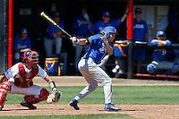 Tyler Kuresa #18 of the UC Santa Barbara Gauchos bats against the Cal State Northridge Matadors at Matador Field on May 11, 2013 in Northridge, California. UC Santa Barbara defeated Cal State Northridge, 6-2. (Larry Goren/Four Seam Images)