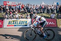 Sanne Cant (BEL/Iko-Beobank) crossing the finish line in 2nd<br /> <br /> Elite Women's Race<br /> CX Super Prestige Zonhoven 2017
