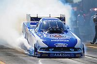 Sept. 23, 2011; Ennis, TX, USA: NHRA funny car driver Robert Hight during qualifying for the Fall Nationals at the Texas Motorplex. Mandatory Credit: Mark J. Rebilas-
