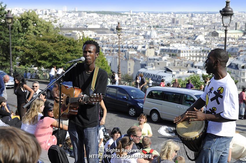 Cityscape of Montmartre district, Paris