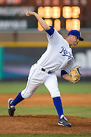 Tyler Sample #60 of the Burlington Royals in action versus the Kingsport Mets at Burlington Athletic Park July 3, 2009 in Burlington, North Carolina. (Photo by Brian Westerholt / Four Seam Images)