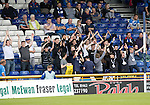 Inverness Caley Thistle v St Johnstone…27.08.16..  Tulloch Stadium  SPFL<br />Saints fans<br />Picture by Graeme Hart.<br />Copyright Perthshire Picture Agency<br />Tel: 01738 623350  Mobile: 07990 594431