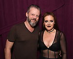 """Jeremy Kushnier and Jennifer Simard backstage after """"Stigma"""" on September 9, 2018 at the Green Room 42 in New York City."""