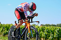 17th July 2021, St Emilian, Bordeaux, France;  POELS Wouter (NED) of BAHRAIN VICTORIOUS during stage 20 of the 108th edition of the 2021 Tour de France cycling race, an individual time trial stage of 30,8 kms between Libourne and Saint-Emilion.