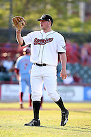 May 29th 2008:  Danny Christensen of the Erie Seawolves, Class-AA affiliate of the Detroit Tigers, during a game at Jerry Uht Park in Erie, PA.  Photo by:  Mike Janes/Four Seam Images