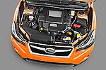 High angle engine detail of a 2012 Subaru XV Executive SUV