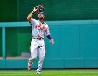 24 September 2011: Atlanta Braves outfielder Jason Heyward in action against the Washington Nationals at Nationals Park in Washington, DC. The Nationals defeated the Braves 4-1 to even up their 3-game series. Mandatory Credit: Ed Wolfstein Photo