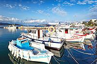 The port of Marmari in Evia, Greece