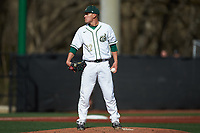 Charlotte 49ers relief pitcher Matt Horkey (22) looks to his catcher for the sign against the Arkansas Razorbacks at Hayes Stadium on March 21, 2018 in Charlotte, North Carolina.  The 49ers defeated the Razorbacks 6-3.  (Brian Westerholt/Four Seam Images)