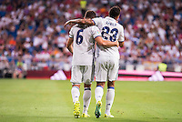Real Madrid's player Nacho and Danilo during the XXXVII Santiago Bernabeu Trophy in Madrid. August 16, Spain. 2016. (ALTERPHOTOS/BorjaB.Hojas) /NORTEPHOTO