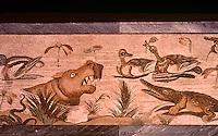 Roman Art:  Mosaic--Poesaggio nilotico.  National Museum, Naples.