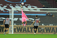 Angelo Ogbonna of West Ham United heads over during West Ham United vs Newcastle United, Premier League Football at The London Stadium on 12th September 2020