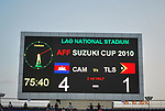Cambodia vs Timor-Leste during their AFF Suzuki Cup 2010 Qualification match at National Sports Complex on 24 October 2010, in Vientiane, Laos. Photo by Stringer / Lagardere Sports
