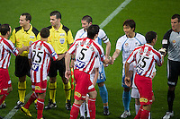MELBOURNE, AUSTRALIA - NOVEMBER 27: Players enter the field at the round 16 A-League match between the Melbourne Heart and Sydney FC at AAMI Park on November 27, 2010 in Melbourne, Australia. (Photo by Sydney Low / Asterisk Images)