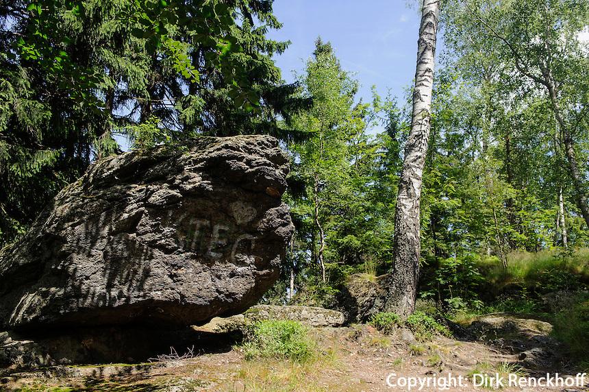 Im Isergebirge, Woiwodschaft Niederschlesien (Województwo dolnośląskie), Polen, Europa<br /> Iser Mountains, Poland, Europe