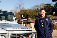 Photo: Richard Lane/Richard Lane Photography. Bath Rugby day at Land Rover Experience Centre, Eastnor. 01/02/2012. Olly Barkley.
