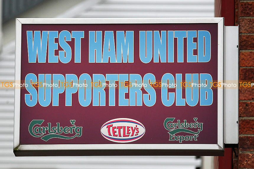 West Ham United Supporters Club sign ahead of West Ham United Ladies vs Tottenham Hotspur Ladies, FA Women's Premier League Football at the Boleyn Ground, Upton Park