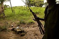 SPLA soldiers at a guard post in Naandi.