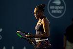 July 30, 2019: Venus Williams (USA) in action where she was defeated by Bethanie Mattek-Sands (USA) 6-7, 6-3, 6-1 in the first round of the Mubadala Silicon Valley Classic at San Jose State in San Jose, California. ©Mal Taam/TennisClix/CSM