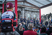 Team Aqua Blue Sport team presentation.<br /> <br /> 53th Amstel Gold Race (1.UWT)<br /> 1 Day Race: Maastricht > Berg en Terblijt (263km)