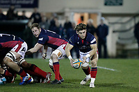 Rory Brand of London Scottish during the Greene King IPA Championship match between London Scottish Football Club and Nottingham Rugby at Richmond Athletic Ground, Richmond, United Kingdom on 7 February 2020. Photo by Carlton Myrie.