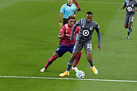 ST PAUL, MN - SEPTEMBER 9: Mason Toye #23 of Minnesota United FC controls the ball during a game between FC Dallas and Minnesota United FC at Allianz Field on September 9, 2020 in St Paul, Minnesota.