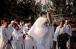 Samaria, Samaritan pilgrimage To Mount Gerizim done on Passover, Shavuot and Succot holidays, raising the Torah scrolls ceremony&#xA;<br />