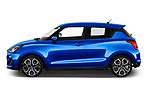 Car Driver side profile view of a 2020 Suzuki Swift-Sport Hybrid 5 Door Hatchback Side View