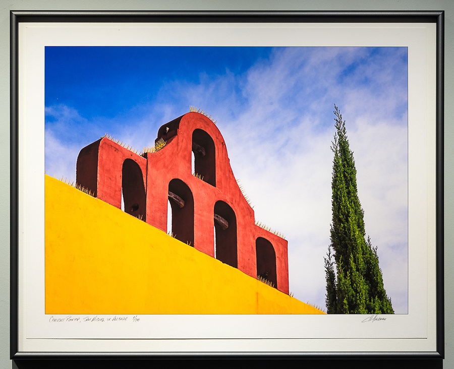 "Framed Size 16""h x 20""w, $435 (float-mounted larger print with spacers and no overmat)<br />