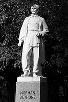 FILE PHOTO - statue of Normand Bethune<br />  in Montreal.