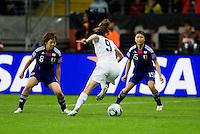 Heather O'Reilly, Aya Miyama, Aya Sameshima.  Japan won the FIFA Women's World Cup on penalty kicks after tying the United States, 2-2, in extra time at FIFA Women's World Cup Stadium in Frankfurt Germany.