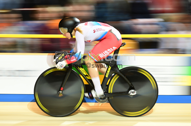 Picture by SWpix.com - 01/03/2018 - Cycling - 2018 UCI Track Cycling World Championships, Day 2 - Omnisport, Apeldoorn, Netherlands - Daria Shmeleva Women's 500m Sprint Qualifying